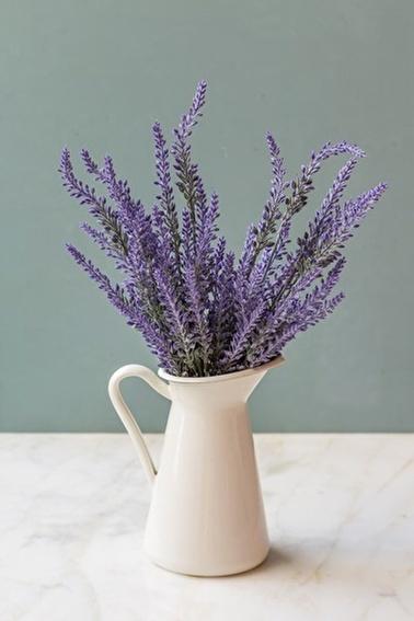 Arma House İtalyan Saksıda Mor Provence Yapay Çiçek Lavanta Mor